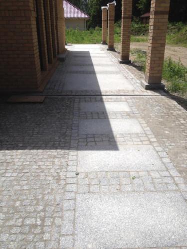 płyty + kostka z granitu Strzegomskiego